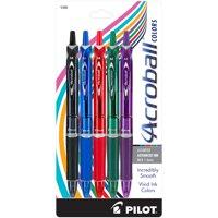 Pilot Acroball Colors Advanced Ink Pen, Medium Point, Assorted Barrels, Assorted Ink, 5-Pack