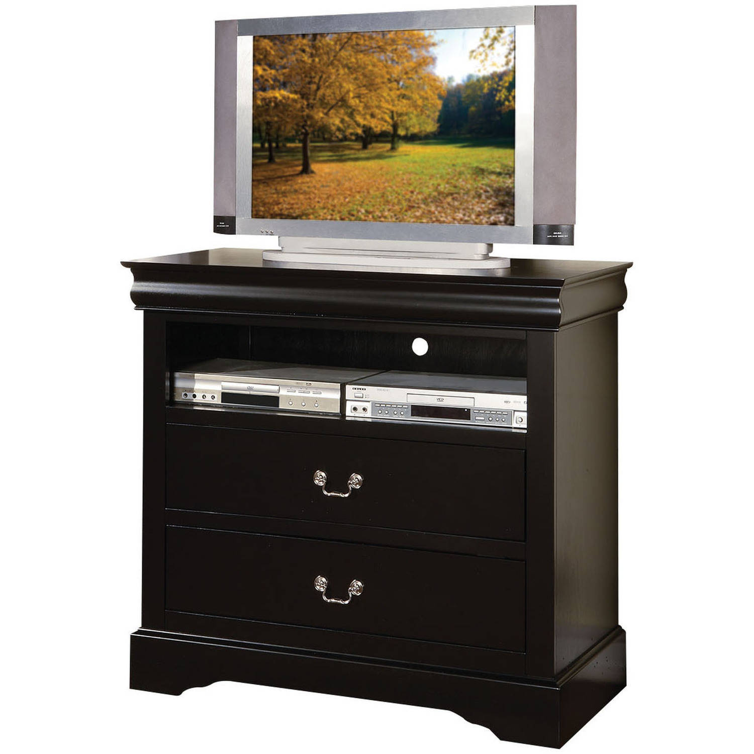 "ACME Louis Philippe III TV Console for Flat Screens TVs up to 40"", Black"
