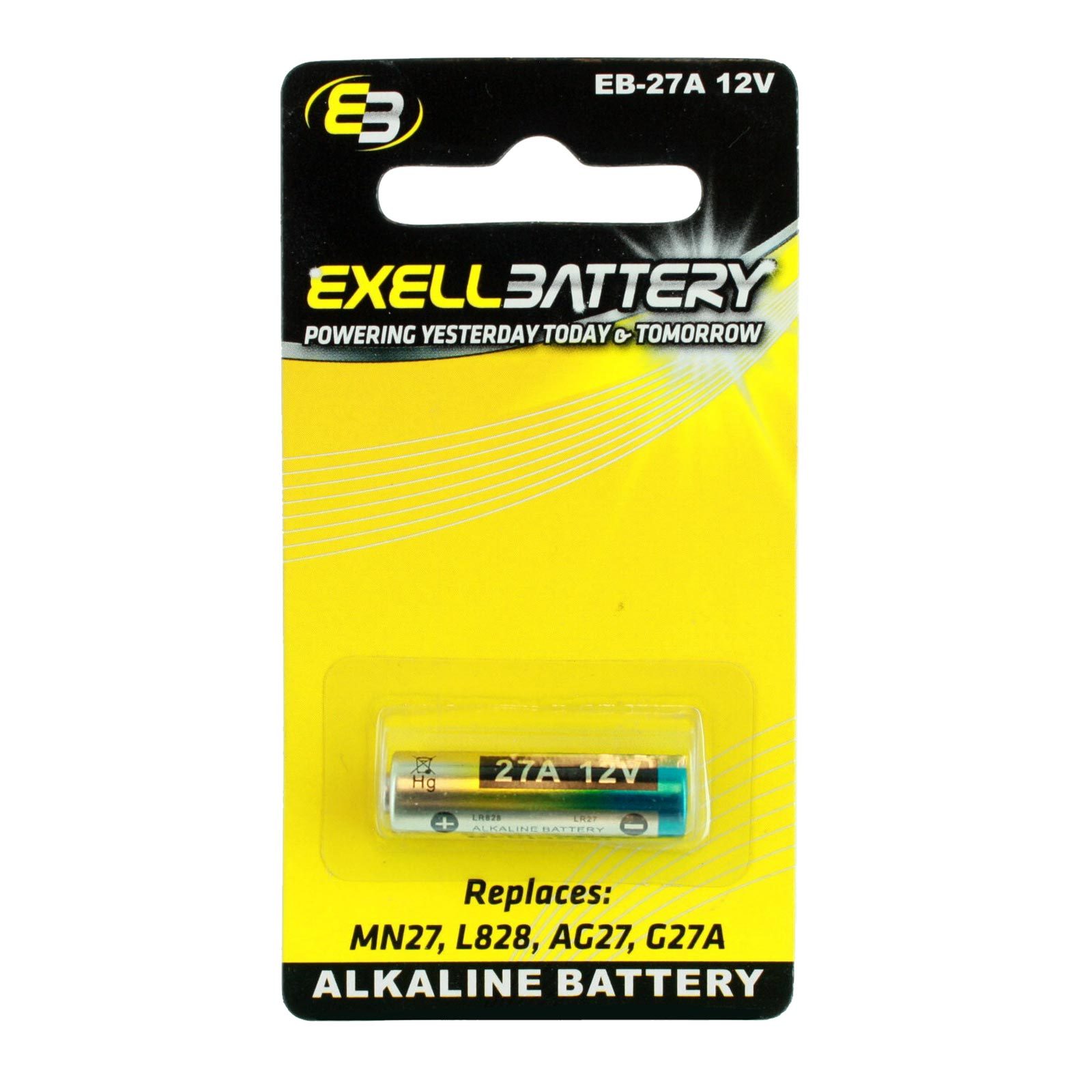 Exell EB-27A Alkaline 12V Battery Replaces MN27 L828 AG27 G27 FAST USA SHIP