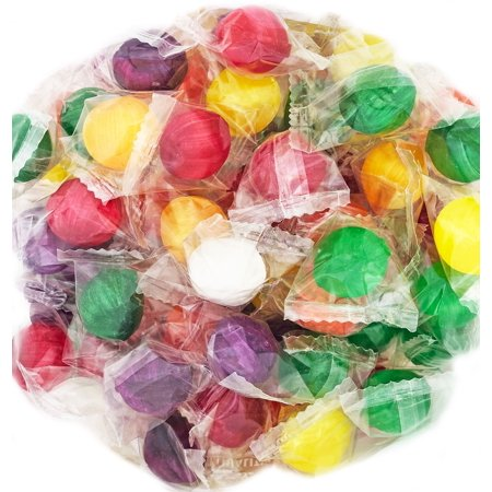 SweetGourmet Old-fashioned Sour Balls | Cherry, Grape, Lemon, Lime, Orange, Pineapple| Bulk Retro Hard Candy Wrapped | Kosher | 15oz