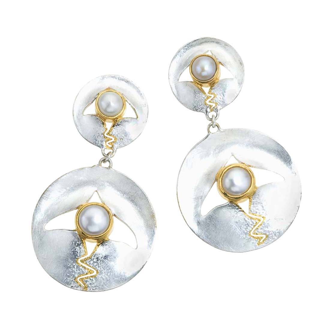 Pearl, Mother of Pearl Drop Earrings by Ax Jewelry
