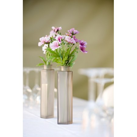 Canvas Print Vase Setting Dinner Party Table Setting Flowers Stretched Canvas 10 x 14