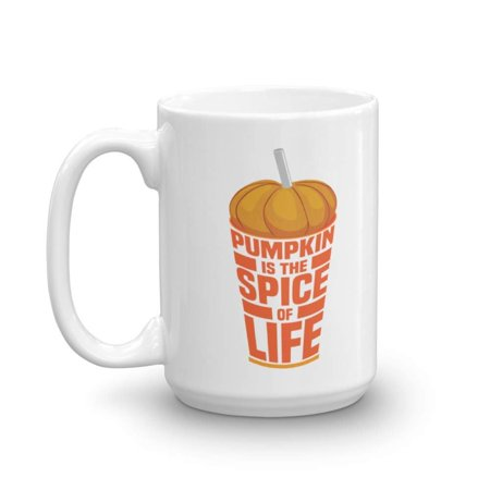 Fall Themed Parties (Pumpkin Is The Spice Of Life Fall Themed Ceramic Drinking Coffee & Tea Gift Mug Or Cup, Birthday Party Favors, Decorations, Kitchen Supplies And Autumn Season Must Haves)