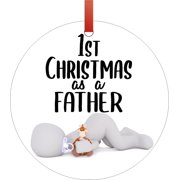 Ornaments Baby Ornament 1st Christmas as a Father Baby Ornament Christmas Décor