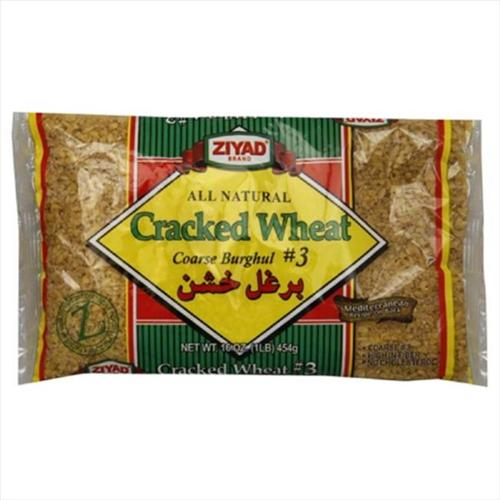 ***Discontinued***Ziyad Wheat, Cracked, Coarse Burghul No.  3, 16 Oz, Pack Of 6