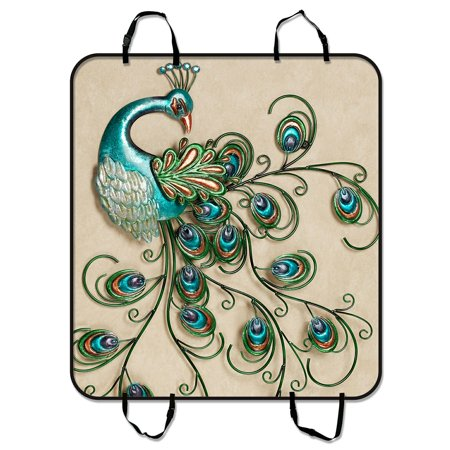 Gckg Beautiful Peacock Pattern Popular Pet Car Seat Cover
