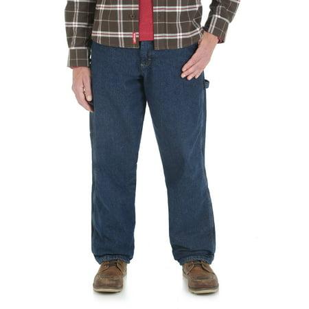 a2268cd0 Wrangler - Men's Fleece Lined Carpenter Jean - Walmart.com