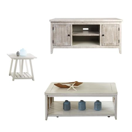 Dockside 3 piece living room set coffee table with tv - 3 piece table set for living room ...