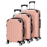 "Zimtown 3Pcs 20/24/28"" Luggage Set Travel Bag TSA Lock Trolley Carry On Suitcase Rose Gold"