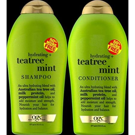 19.5 Apron - OGX Organix Tea Tree Mint Shampoo 19.5 oz + Conditioner 19.5 oz Duo-Set