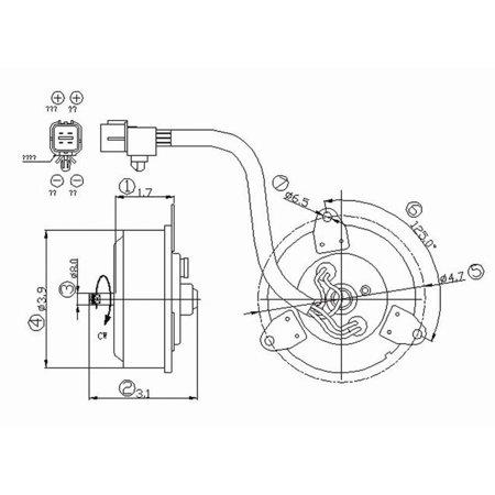 TYC Engine Cooling Fan Motor for Hyundai Sonata XG300