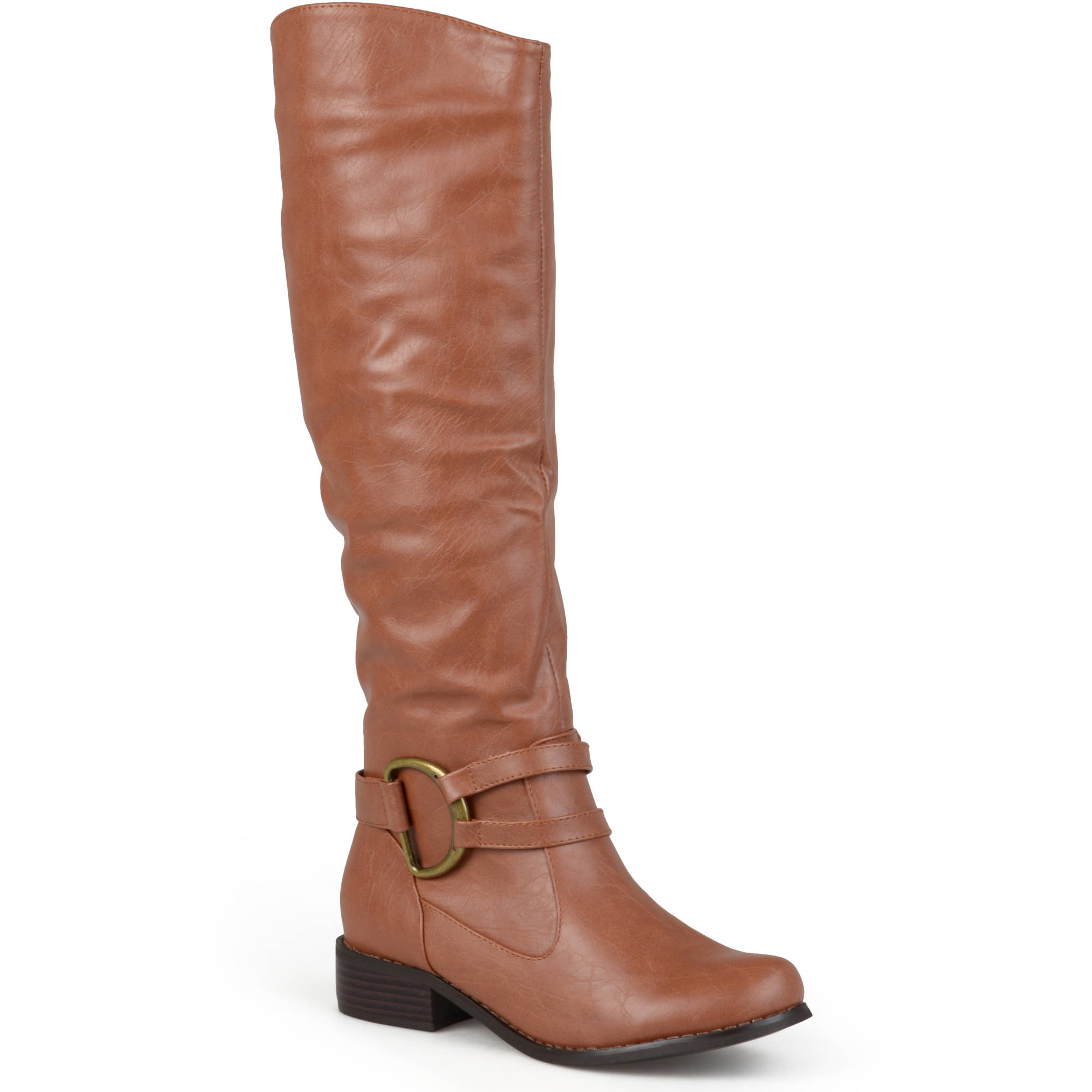 Brinley Co. Women's Ring Accent Wide Calf Boots