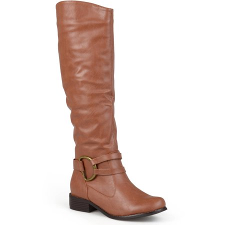Image of Brinley Co. Women's Ring Accent Wide Calf Boots
