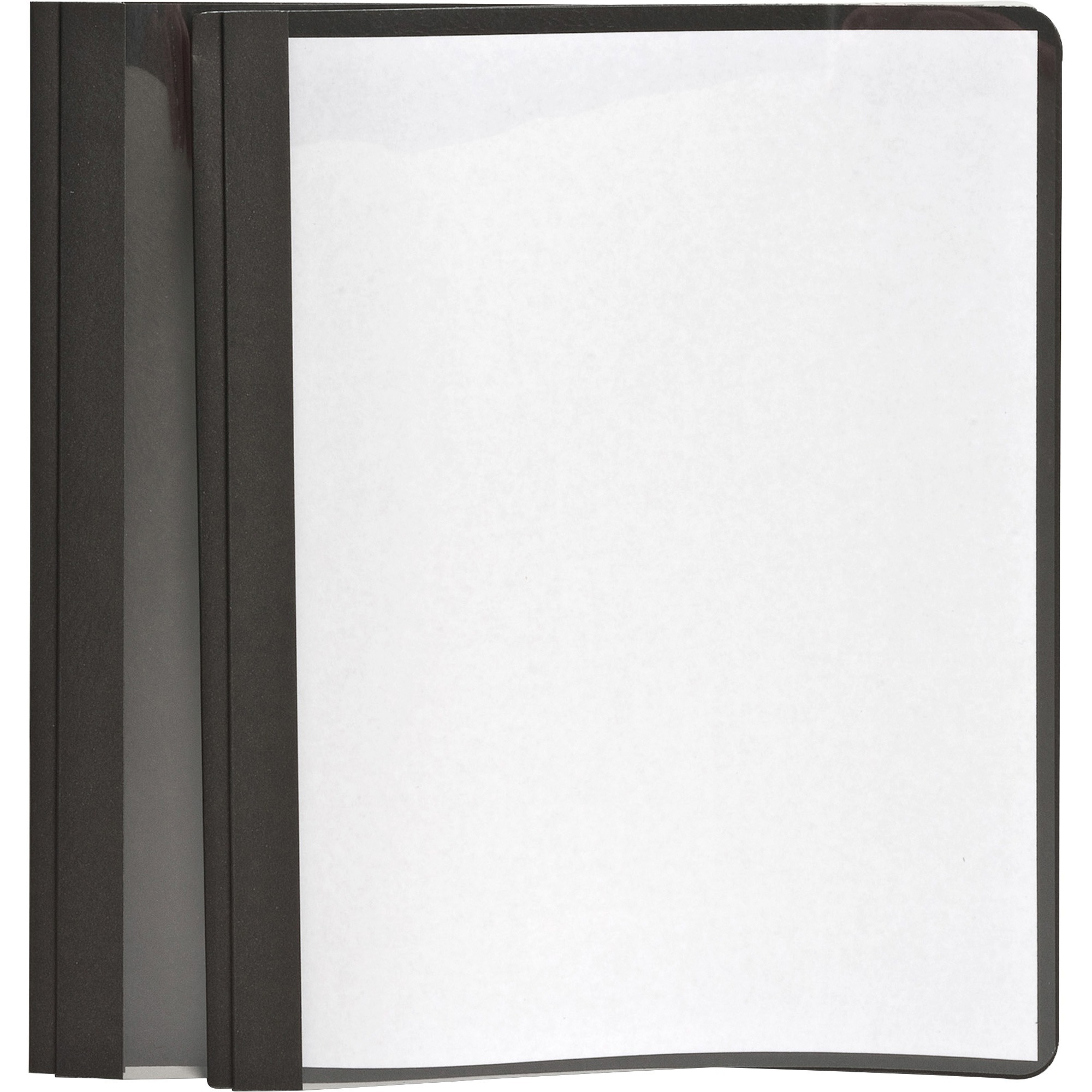 Oxford, OXF55806, Clear Front Report Covers, 25 / Box, Black,Clear