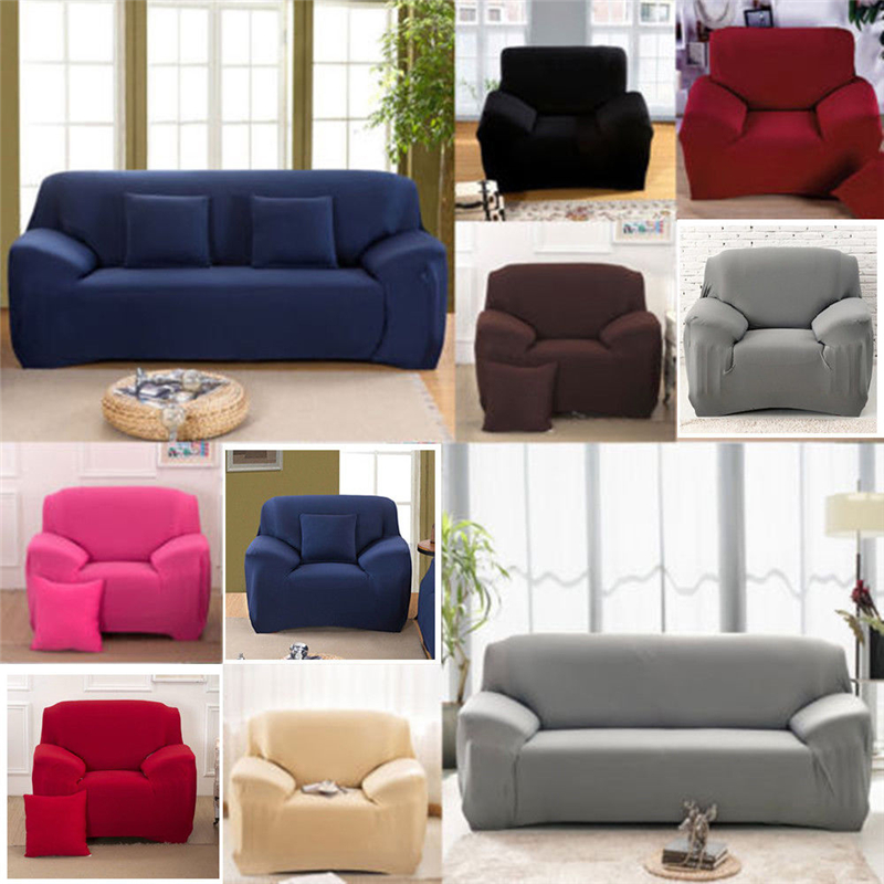 Ashata 2 Seater Polyester Loveseat Sofa Couch Stretch Protect Cover Elastic Slipcover Home