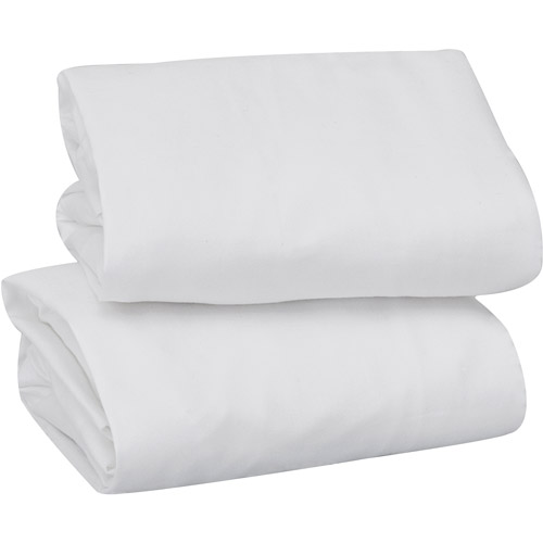 garanimals set of 2 crib sheets white