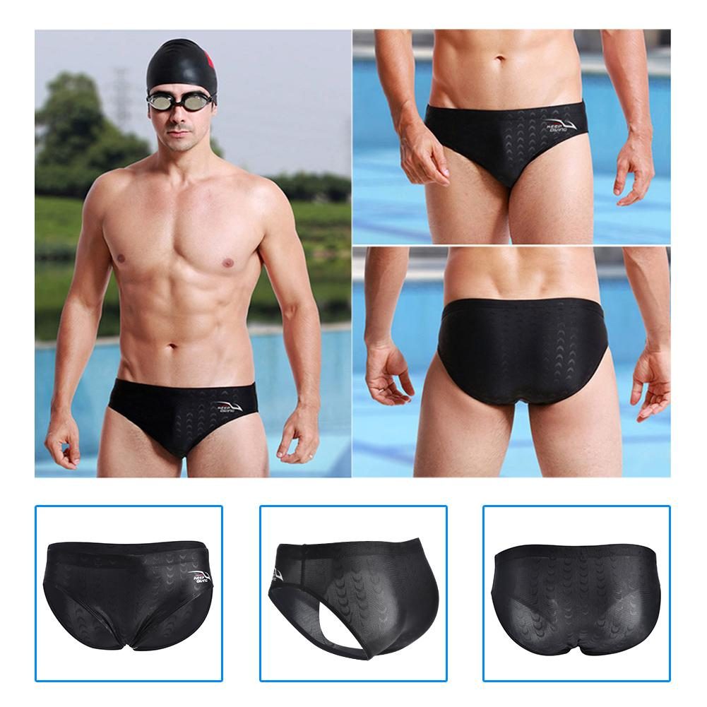 TOPINCN Swimming Briefs, Men Swimming Shorts,KEEP DIVING Male Men Sexy Waterproof Swimming Competition Wear Trunks Briefs Shorts Pants