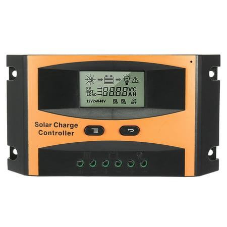 Intelligent 15A Solar Panel Charge Controller 12V-24V Battery Regulator