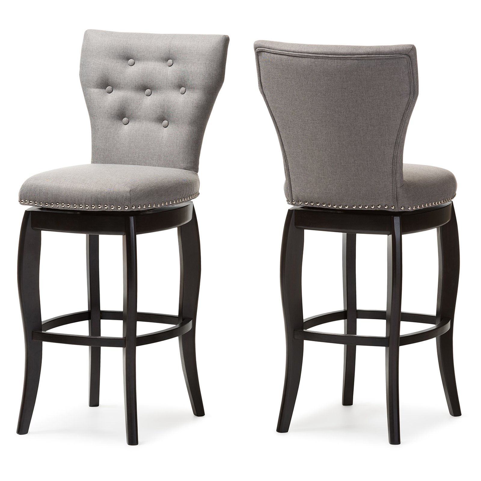Baxton Studio Leonice 30 in. Bar Stool Set of 2 by Wholesale Interiors