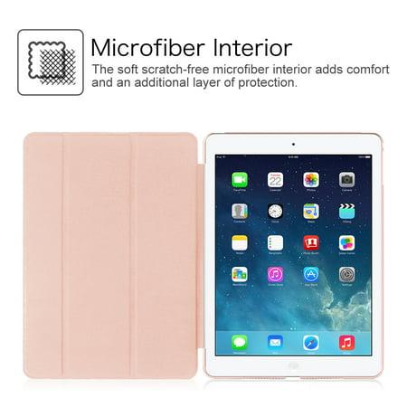 Etui Fintie pour iPad mini 3 / iPad mini 2 / iPad mini - Coque transparente translucide givrée, Or rose - image 5 de 7