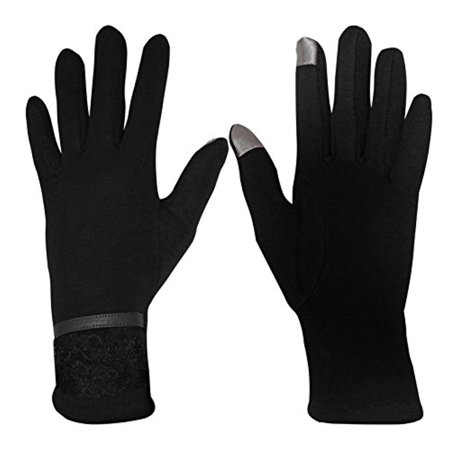 Peach Couture Womens Touch Screen Fleece Lined Lace Winter Gloves Warm Wear Lace Lace Glove Pattern