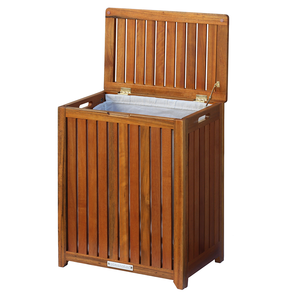 Incredible Oceanstar Solid Wood Spa Hamper Creativecarmelina Interior Chair Design Creativecarmelinacom