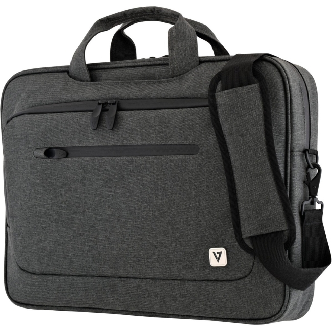 "V7 14.1"" Slim Laptop Case with Shoulder Strap"
