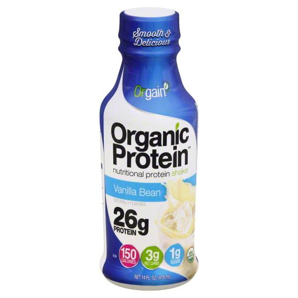 Orgain Organic Protein Shake - Vanilla Bean - Case Of 12 - 14 Fl Oz.