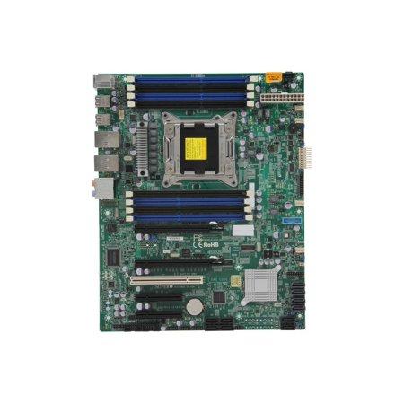 Supermicro X9SRA Single Socket R (LGA 2011) E5 ATX Workstation/Server Motherboard DDR3 1600 12xUSB, 2x PCI-E 3.0 x16 (MBD-X9SRA-O) (E5 Server)