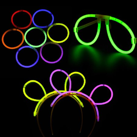 5pcs Funny Multi-color Fluorescent Glasses Eyeglasses & 5pcs Glow Headbands for Party /Festival - Glass In Glow Sticks