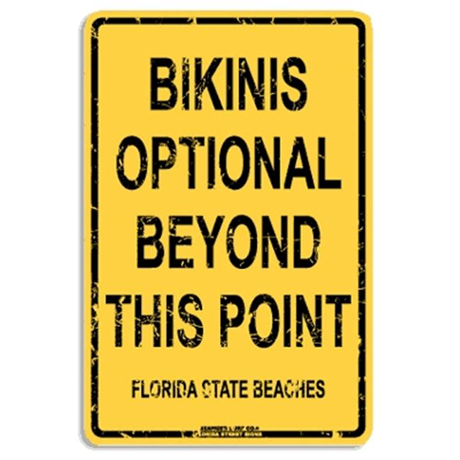 Seaweed Surf Co AA66 12X18 Aluminum Sign Bikinis Optional Florida
