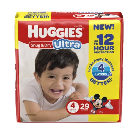 HUGGIES Snug & Dry Ultra Diapers, Size 4, 29 Diapers