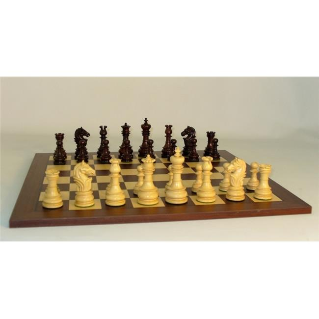 WW Chess 40RLOT-DR Rosewood Lotus on Dk Rswd Brd Chess Set Wood by WW Chess