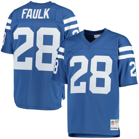 Marshall Faulk Indianapolis Colts Mitchell & Ness Retired Player Replica Jersey - Royal