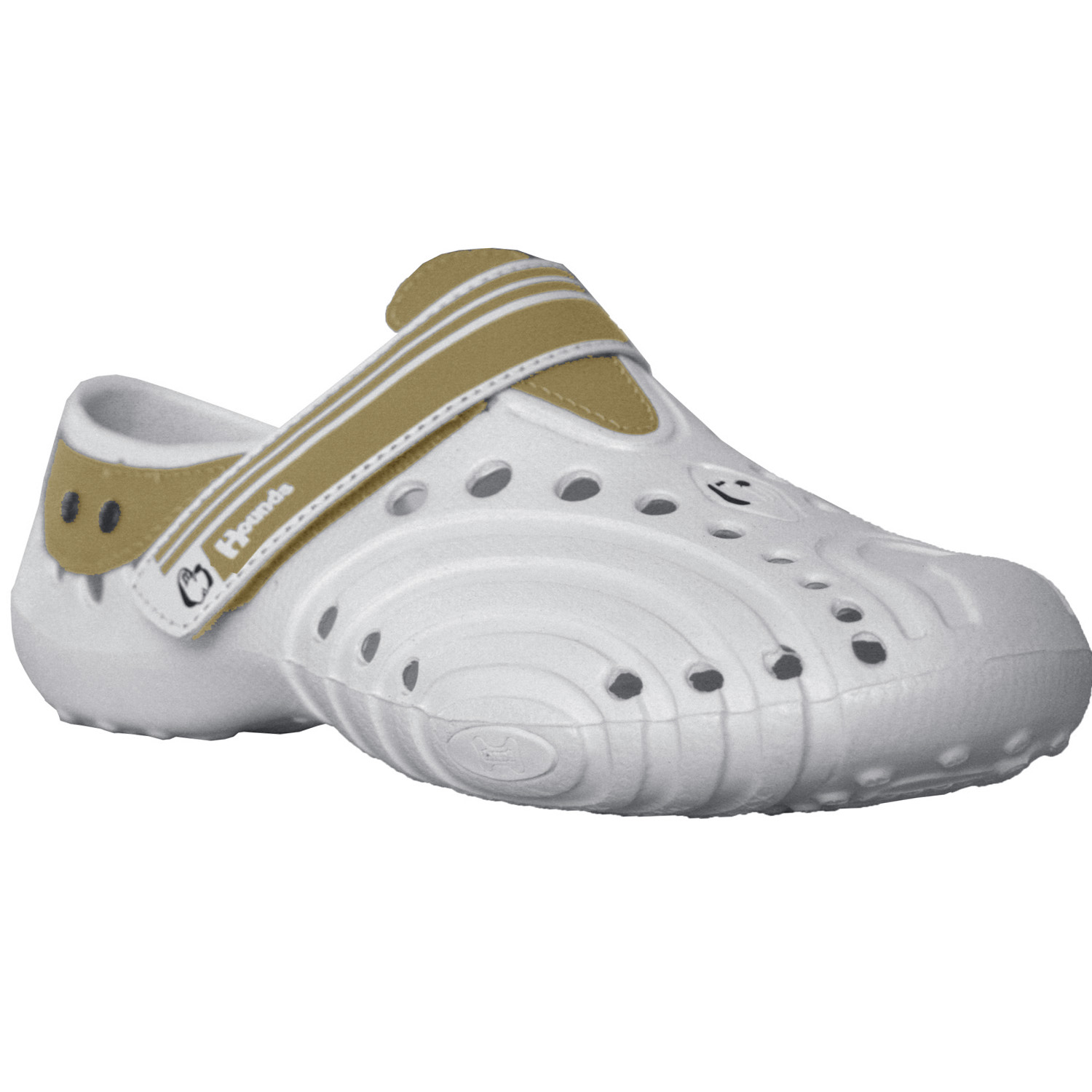 Women's Hounds Ultralite Shoes White with Tan Size 7-8