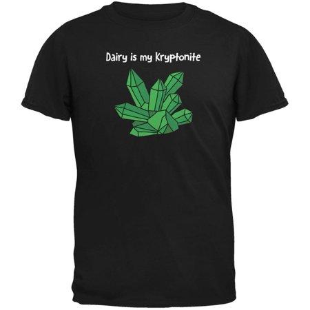 Dairy is My Kryptonite Black Adult T-Shirt
