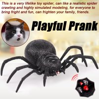 Iuhan Remote Control Spider Scary Wolf Spider Robot Realistic Novelty Prank Toys Gifts