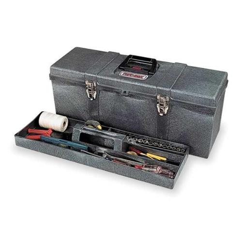 Contico Portable Tool Box, High Density Structural Foam, Charcoal Gray, 8260-4
