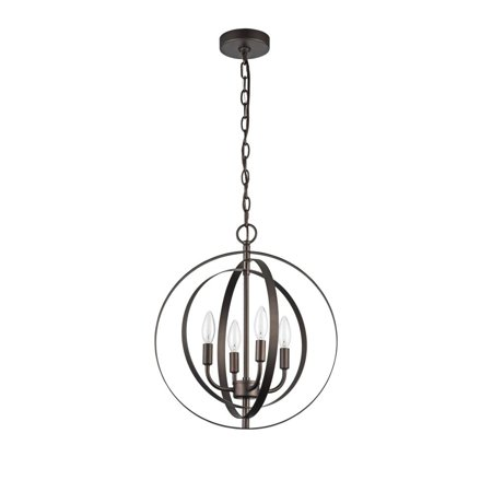 "CHLOE Lighting OSBERT Industrial-style 4 Light Rubbed Bronze Ceiling Pendant 16"" Wide"