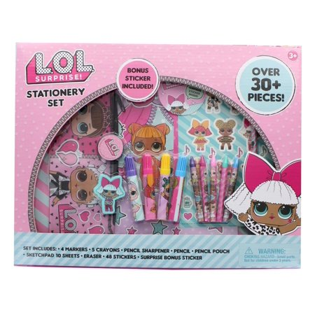 LOL Surprise! 30+-Piece Stationery Set