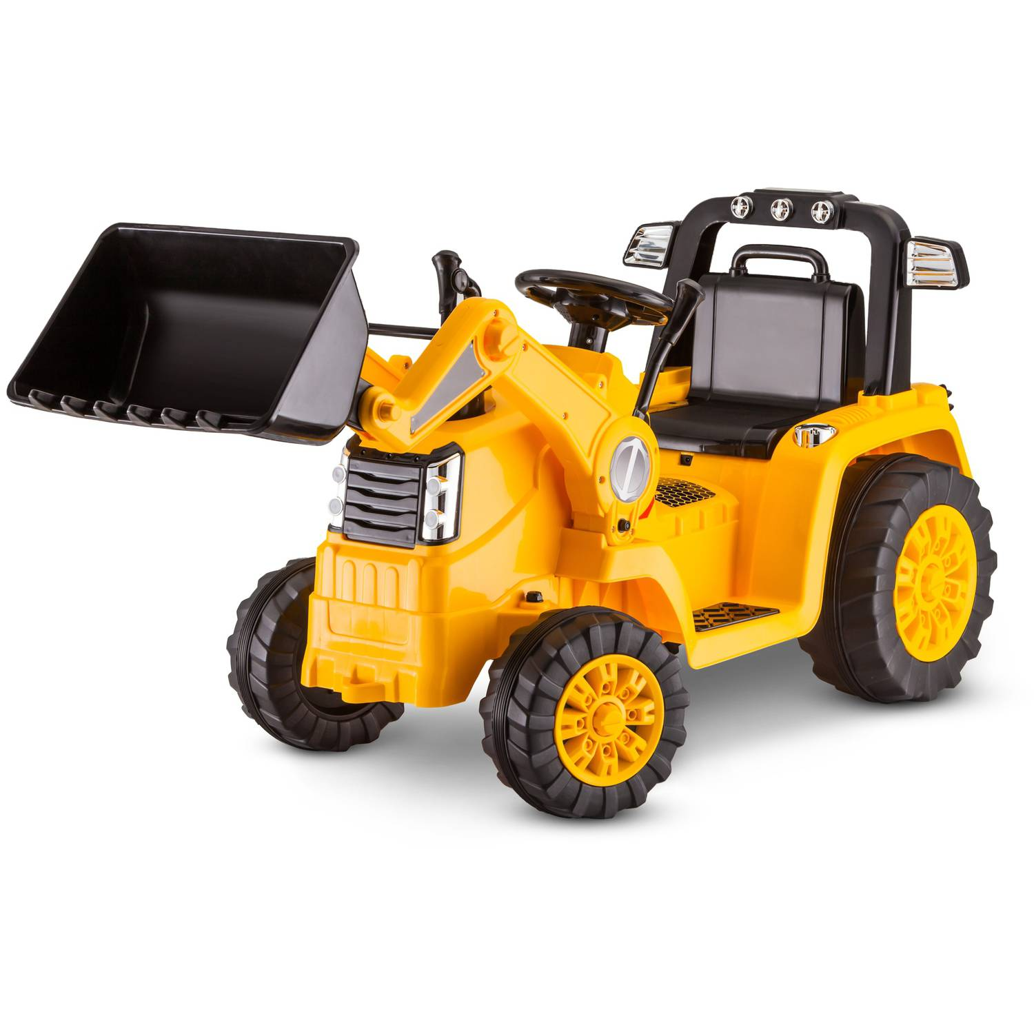 Kidtrax CAT Bulldozer/Tractor 6V Battery Powered Ride-On, Yellow