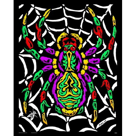 Spider - Fuzzy Velvet Coloring Poster 16x20 Inches (Fuzzy Spiders)