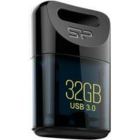 Silicon Power 32GB Jewel J06 USB 3.0 Flash Drive, Black