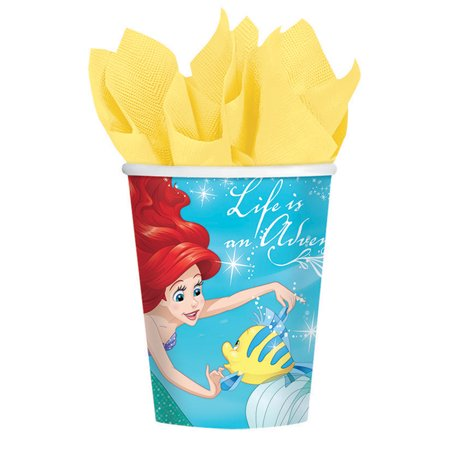Little Mermaid 9 oz Cups (8 Count) - Party Supplies - The Little Mermaid Party Ideas