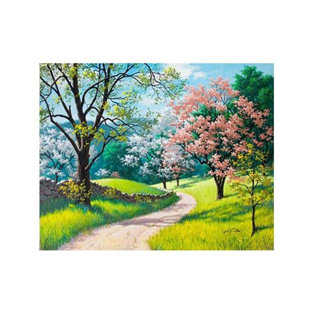 Summer Trees Landscape Various Color DIY Cross-stitch of Diamond Printed 5D Rhinestone Painting for Collection ()
