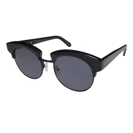 New Karen Walker The Constable Womens/Ladies Round Full-Rim 100% UVA & UVB Black Premium Segment Contemporary Must Have Frame Black Lenses 51-18-145 (Karen Walker Black Sunglasses)