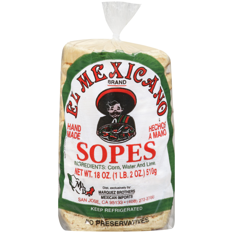 El Mexicano Sopes, 18 oz