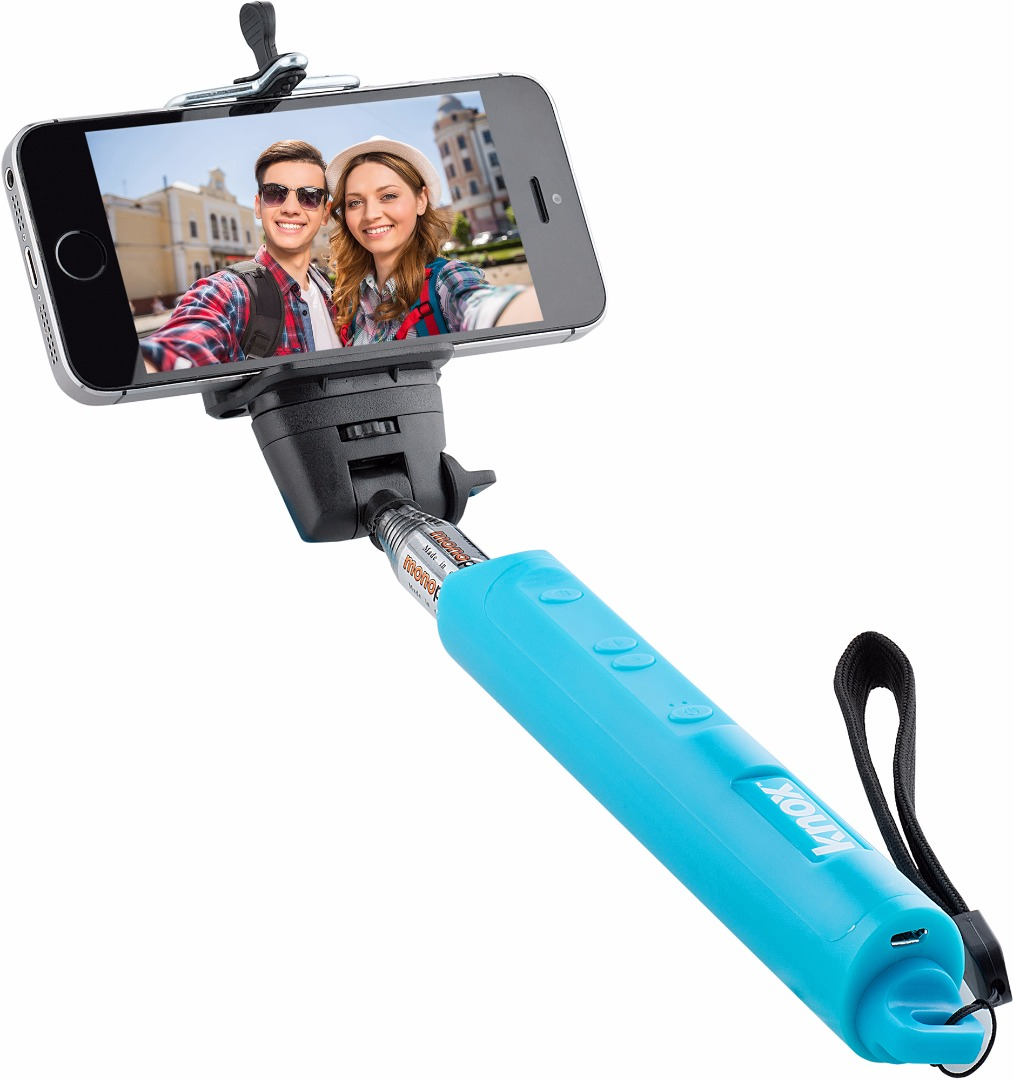 Knox Gear Bluetooth Selfie Stick w/ Zoom Function (Blue)