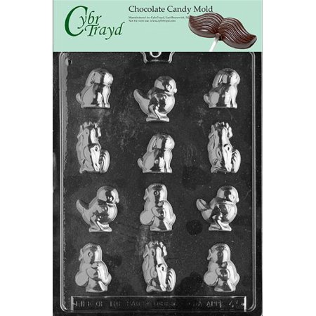 Cybrtrayd Life of the Party E045 Chick and Rabbit Assortment Easter Chocolate Candy Mold in Sealed Protective Poly Bag Imprinted with Copyrighted Cybrtrayd Molding Instructions