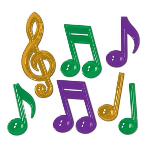 Beistle 54880-GGP Plastic Musical Notes Pack of 12